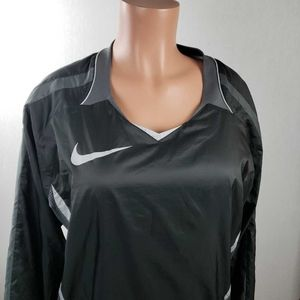 Nike Womens Activewear Pullover Jacket Black  Mesh